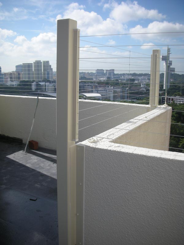 Safety Fence At Roof Top Invisys Invisible Grille