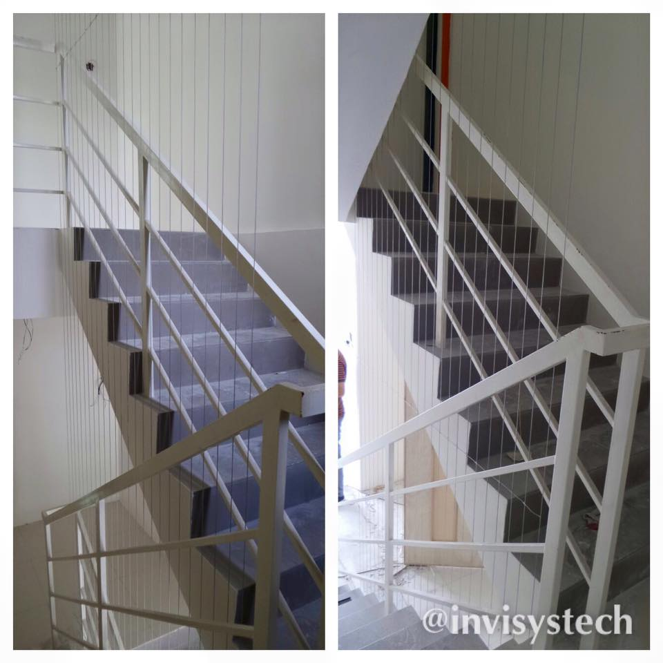 Window grille kota kinabalu - Home Invisible Grilles Safety Protection Feature At Staircase