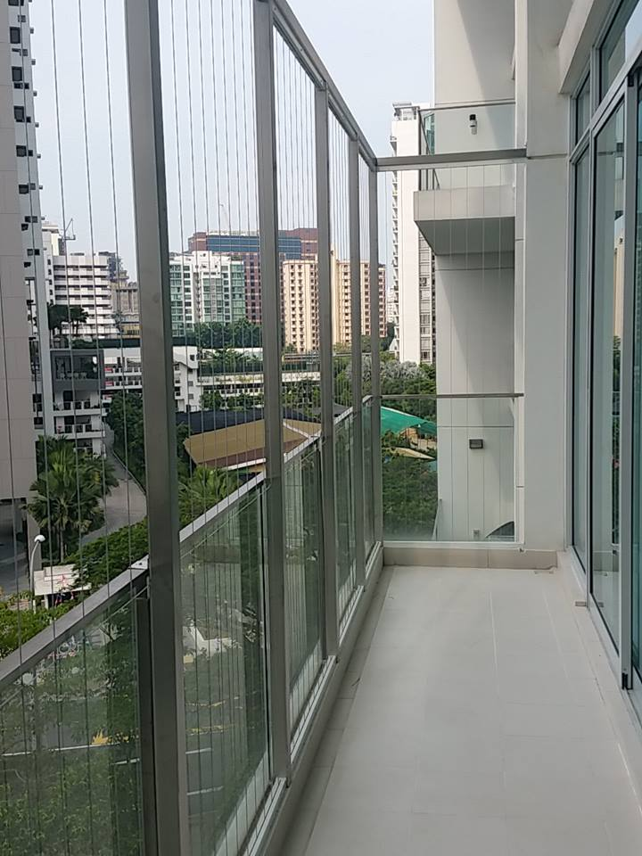 Irregular Shape Balcony Invisys Invisible Grille