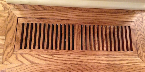wooden grille