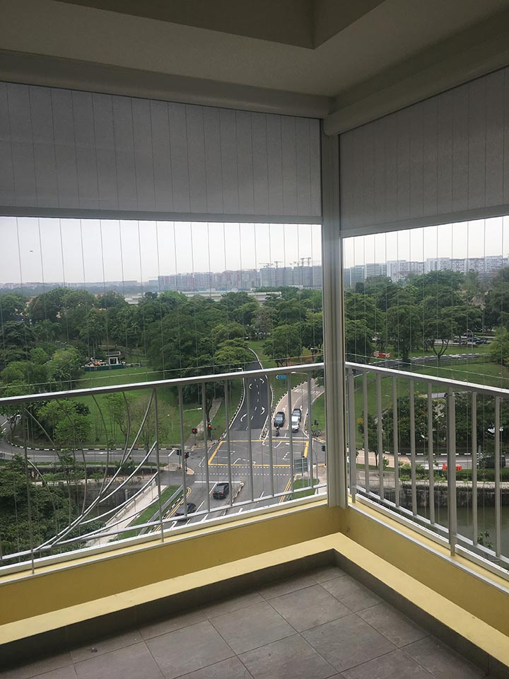 stylish balcony blinds